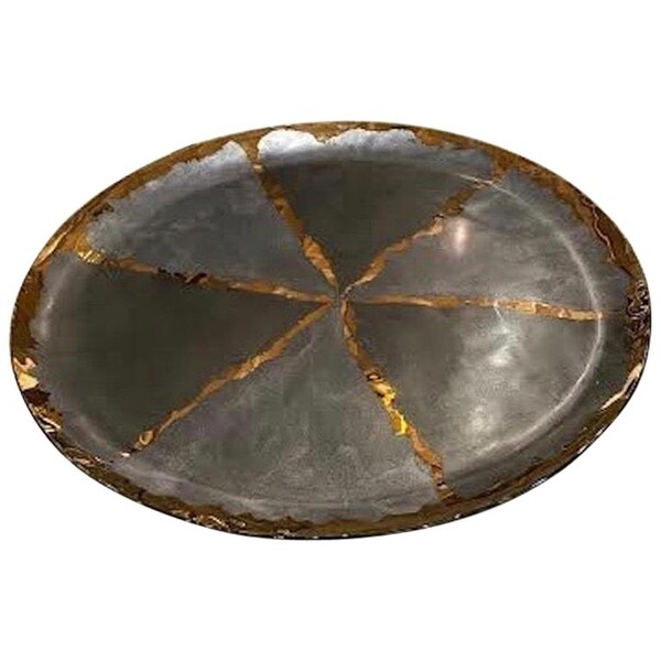Contemporary Brazilian XL Patterned Glass Platter
