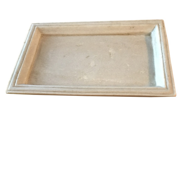 Contemporary Indian Rectangular Marble Serving Tray