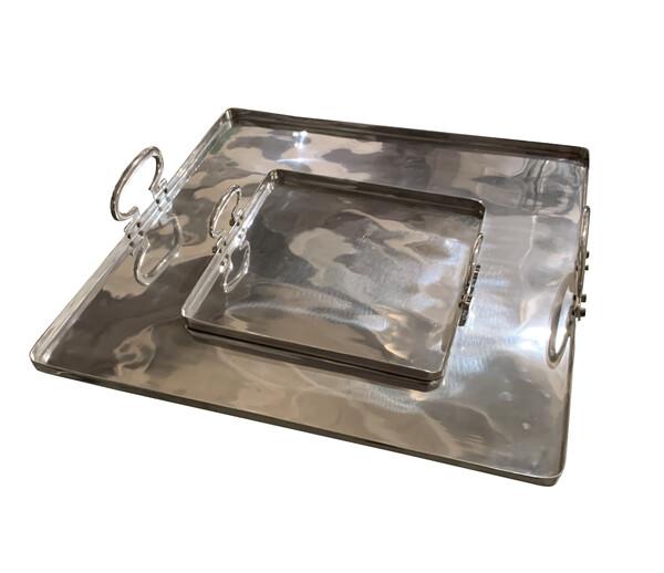 Contemporary Italian Aluminum Square Trays