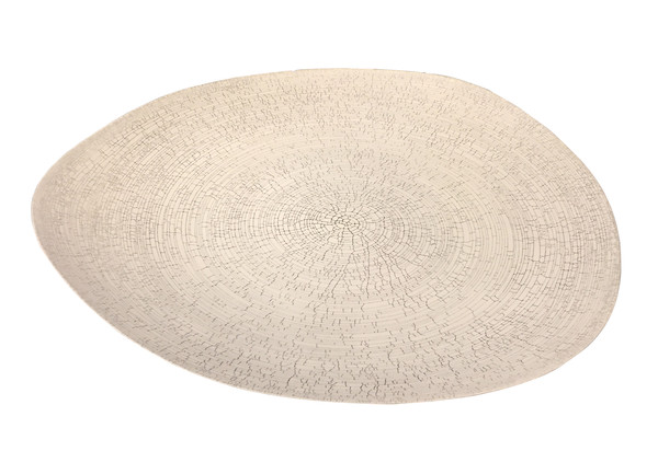 Contemporary Italian Large White Birch Motif  Platter
