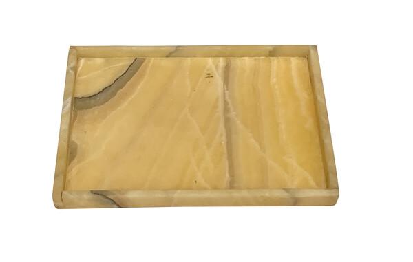 Contemporary Rectangular Shaped Onyx Tray