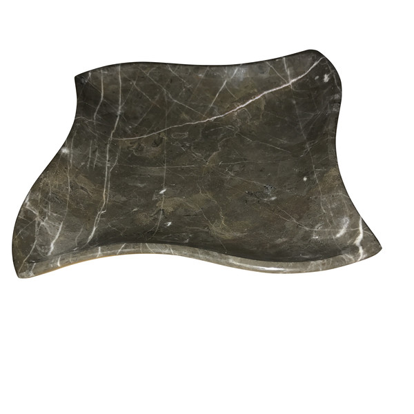 Contmeporary Marble Square Wavy Edge Tray