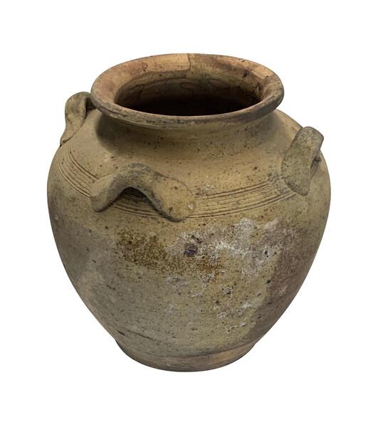 16thc Vietnamese Four Handled Animist Ship Wrecked Vase