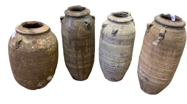 17thc Thailand Collection Tall Vases