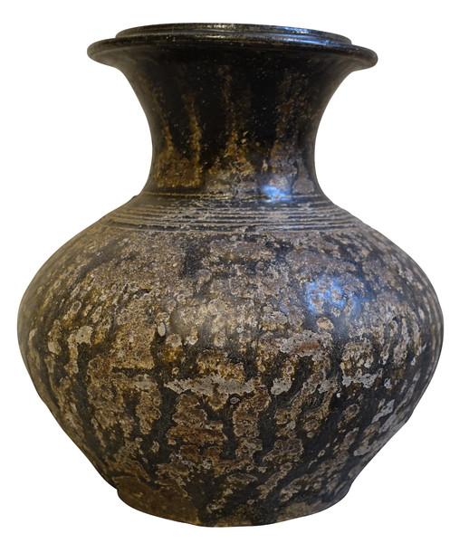 18thc Cambodia Black Vase