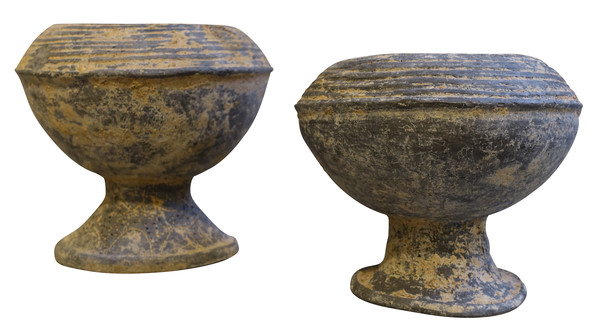 18thc Cambodia Weathered Black Vase