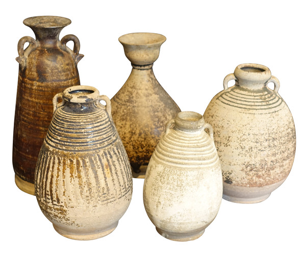 18thc Cambodian Collection of Vases