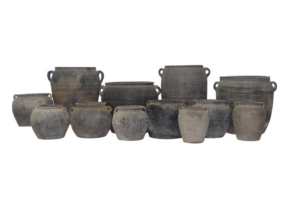 Chinese Collection Charcoal Gray Vases