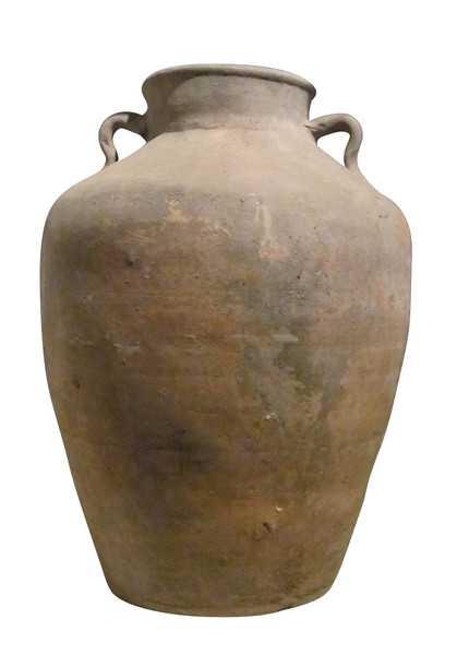 19thc Chinese Terra Cotta Food Vessel with Handles