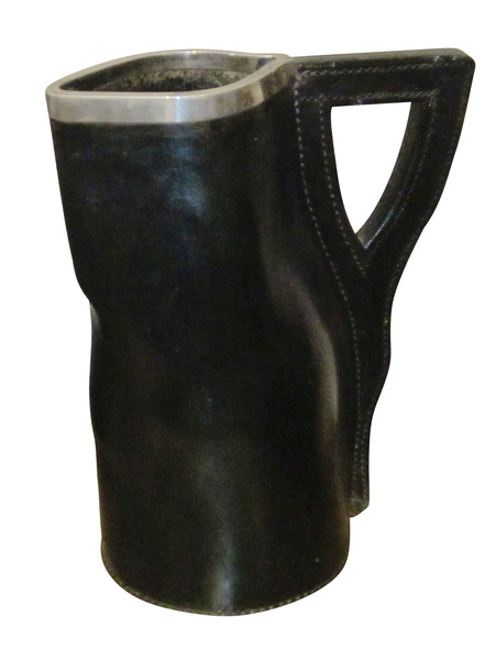 19thc English Leather Pitcher