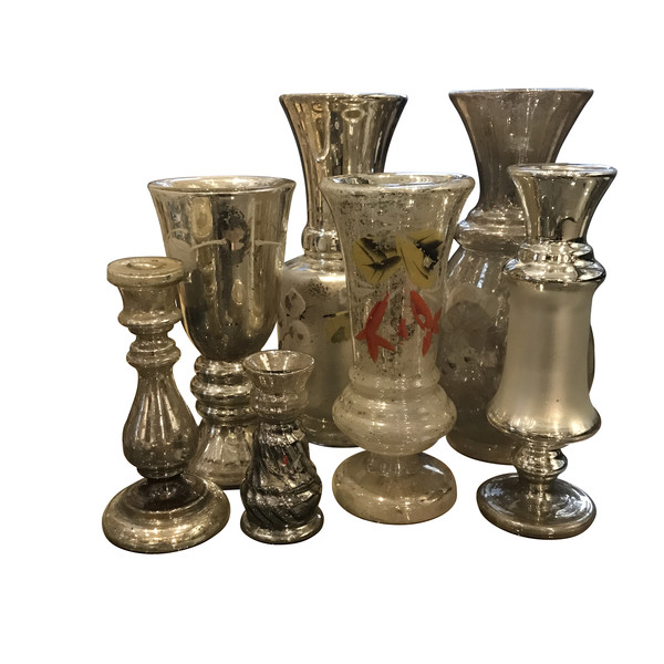 19thc French Mercury Glass Collection