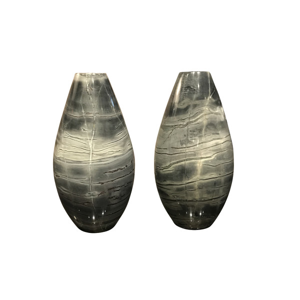 Brazilian Marble Pair Vases
