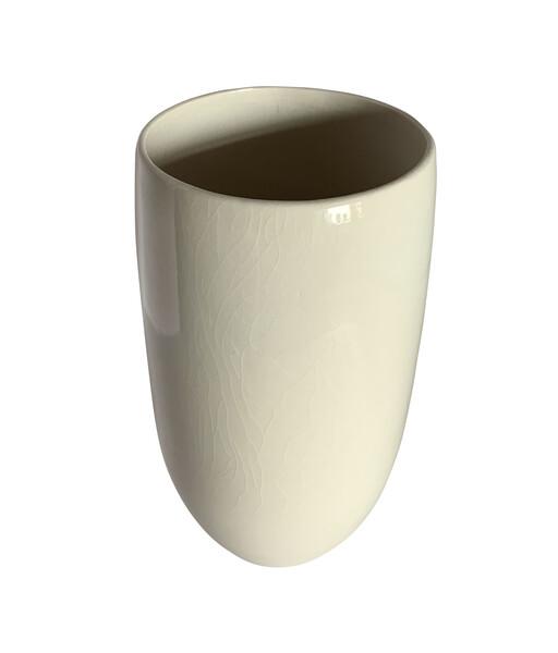 Contemporary American Alabaster Glazed Vase