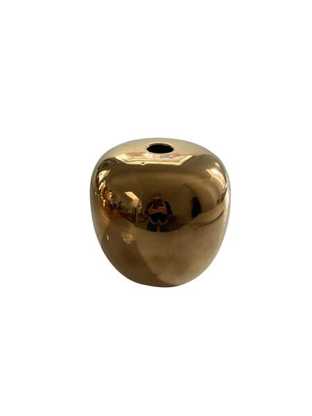 Contemporary American Ceramicist Sandi Fellman 22K White Stoneware Orb Shaped Vase