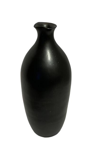 Contemporary American  Black Stoneware Vase