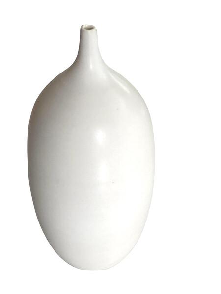 Contemporary American Ceramicist Sandi Fellman Alabaster Glazed Vase