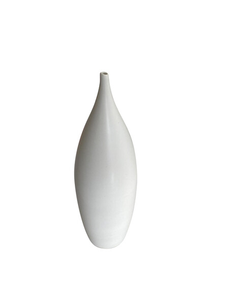 Contemporary American Ceramicist Sandi Fellman Alabaster Glazed Vase