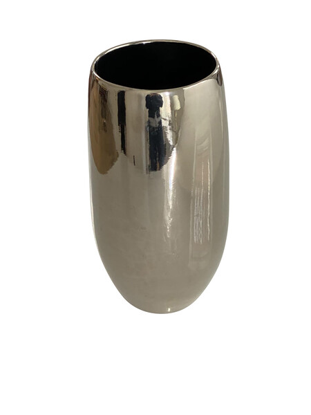 Contemporary American Ceramicist Sandi Fellman Platinum Lustre Cylinder Vase