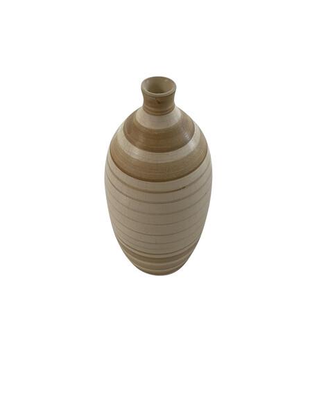 Contemporary American Ceramicist Sandi Fellman Striped Stoneware Vase