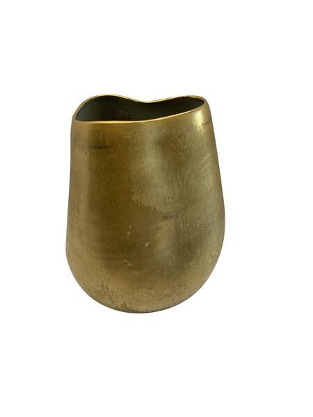 Contemporary American Ceramicist Sandi Fellman Matte 22K Gold Stoneware  Vase