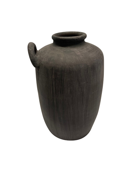 Contemporary Chinese Cement Colored Tall Vase