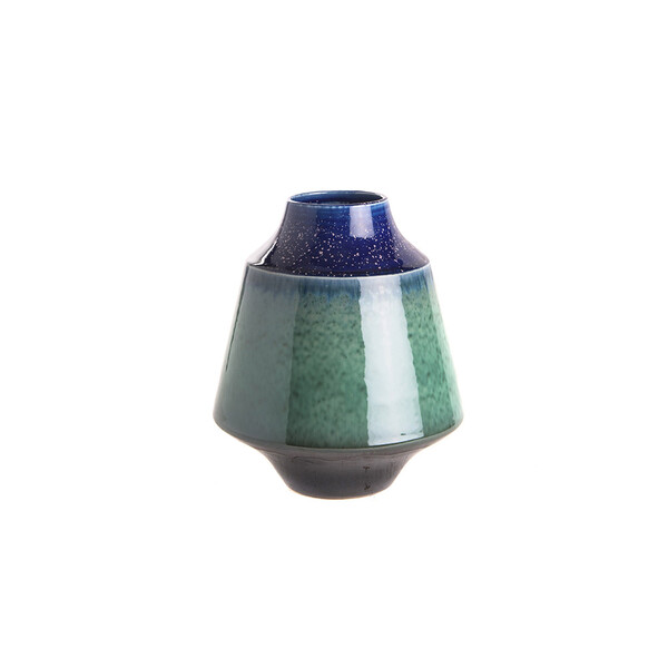 Contemporary Chinese Ceramic Squat Shaped Vase