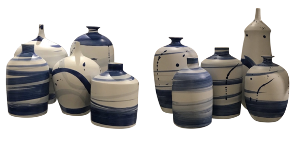 Contemporary Chinese Collection Blue / White Vases