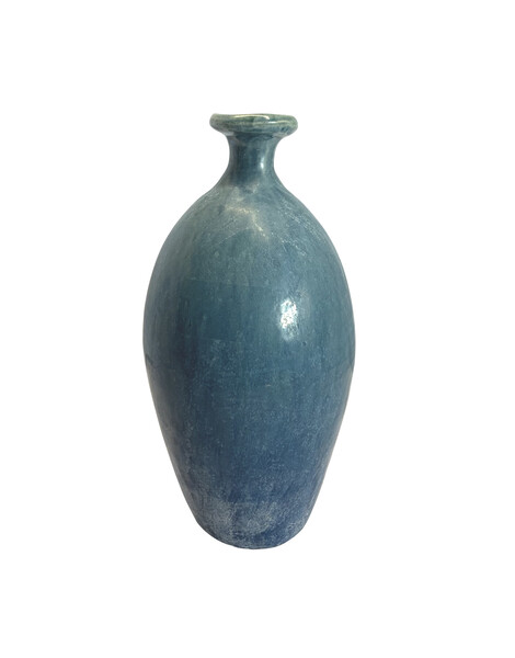 Contemporary Chinese Washed Blue Vase