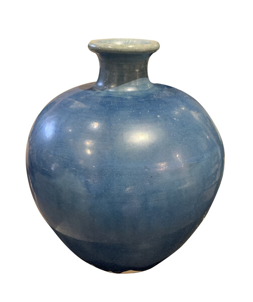 Contemporary Chinese Deep Blue Vase
