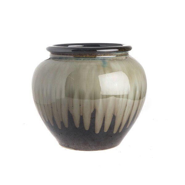 Contemporary Chinese Drip Glaze Ceramic Pot