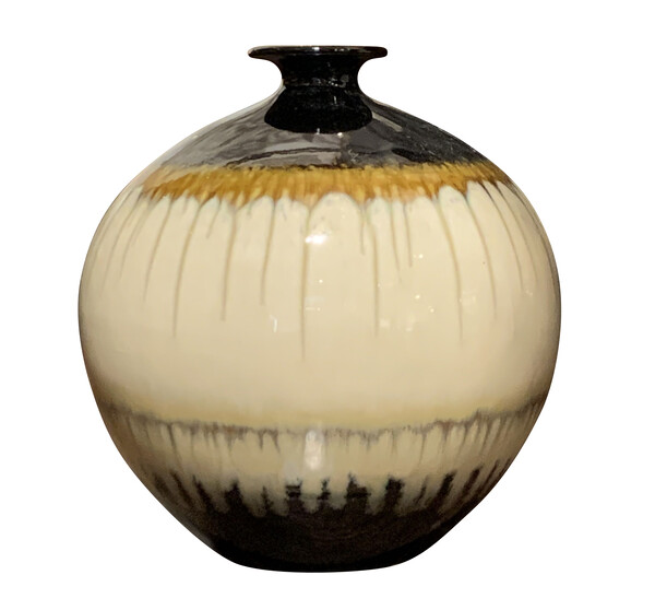 Contemporary Chinese Drip Glazed Vase