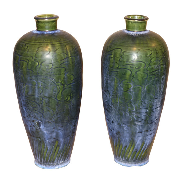 Contemporary Chinese Engraved Pattern Vase