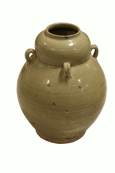 Contemporary Chinese Four Handled Jug