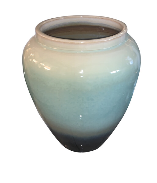 Contemporary Chinese Ombre Glaze Design Vase
