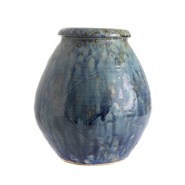Contemporary Chinese Mottled Glaze Vase