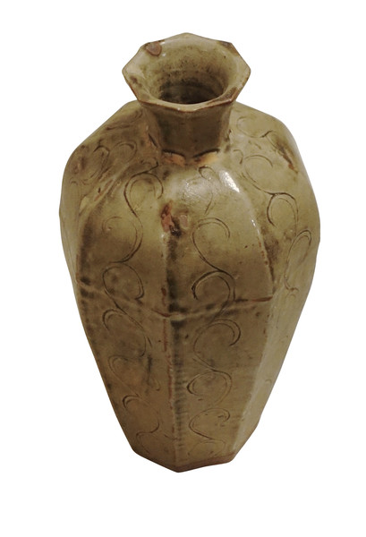 Contemporary Chinese Octagonal Shape Vase