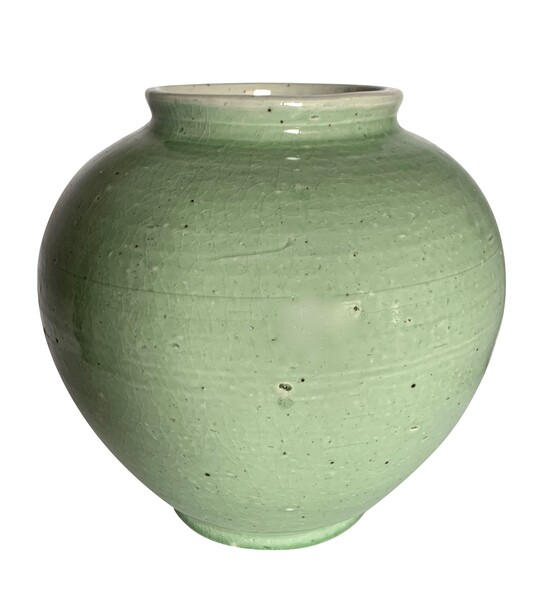 Contemporary Chinese Celadon Vase