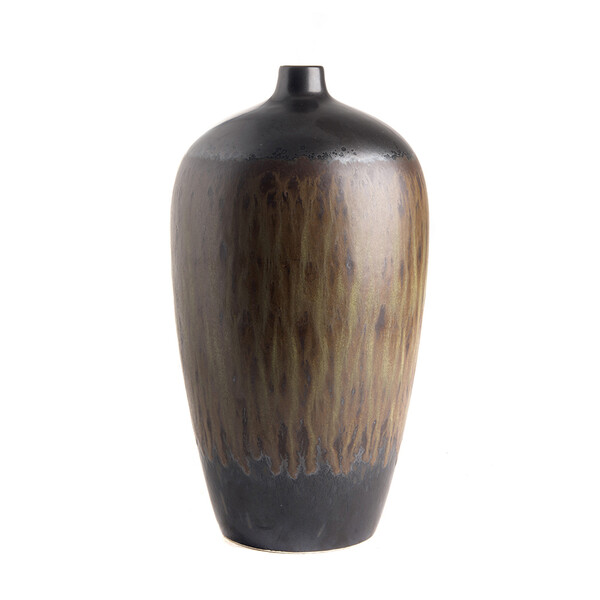 Contemporary Chinese Streaked Glaze Vase
