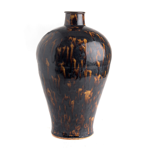 Contemporary Chinese Tortoise Design Ceramic Vase