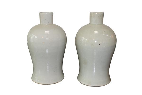 Contemporary Chinese White Vase