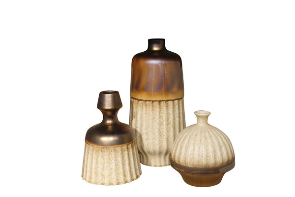 Contemporary Collection Chinese Metallic Glaze Vases