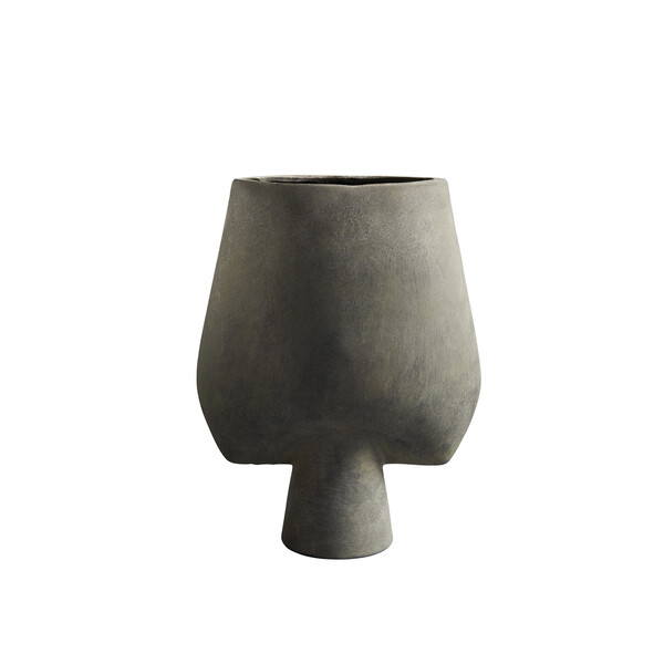 Contemporary Danish Tall Matte Grey Arrow Shaped Vase