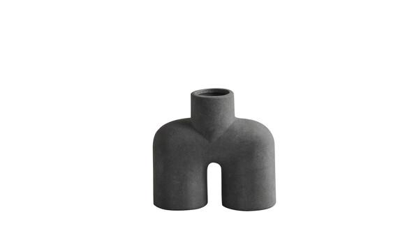 Contemporary Danish Matte Grey Single Spout Vase