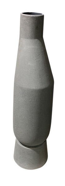 Contemporary Danish Matte Grey Vase