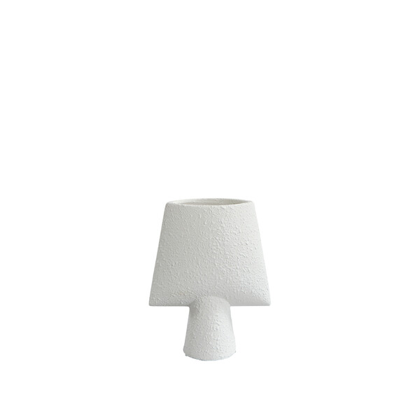 Contemporary Danish Textured White Arrow Shaped Vase
