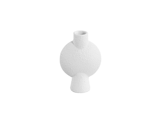 Contemporary Danish Textured White Bubble Vase