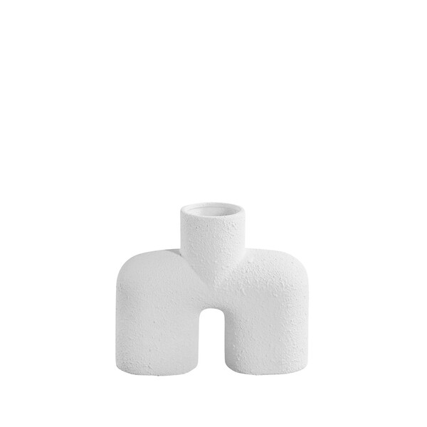 Contemporary Danish Textured  White Single Spout Vase