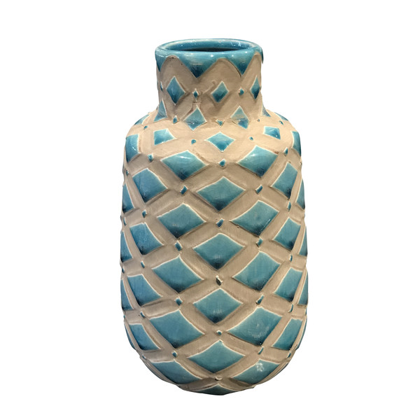 Contemporary Diamond Pattern Vase