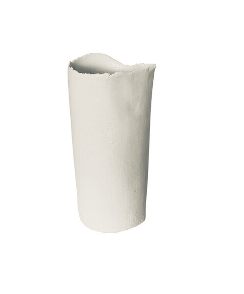 Contemporary French Linen Textured Vase