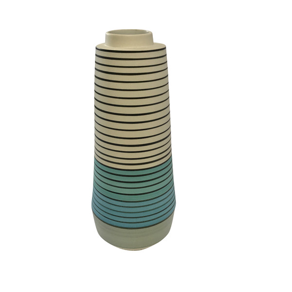 Contemporary French Striped  Vase